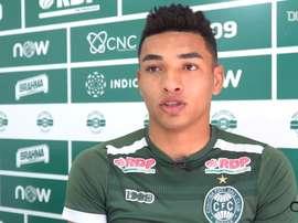 Igor Jesu marcou o segundo gol do Coritib na vitória por 2 a 1sobre o Paraná. DUGOUT