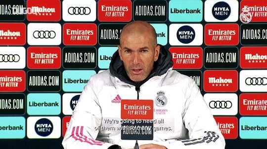 Zidane speaks ahead of the match. DUGOUT