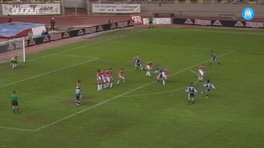 Peter Luccin's powerful free-kick against AS Monaco. DUGOUT