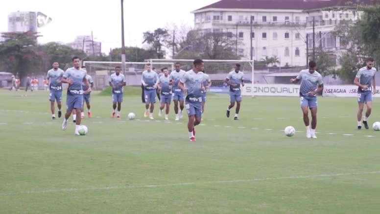 Santos se prepara para duelo com Coritiba. DUGOUT