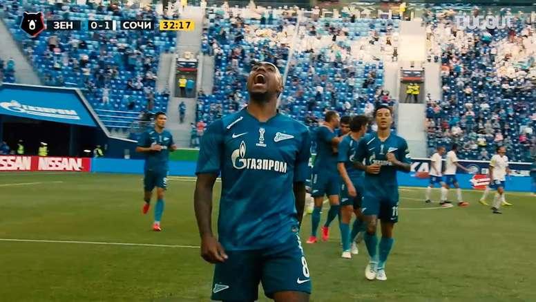 Malcom scored for Zenit against Sochi. DUGOUT
