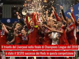 La sesta Champions del Liverpool. Dugout