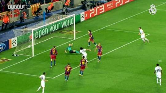 Real Madrid players know how to score against FC Barcelona. DUGOUT