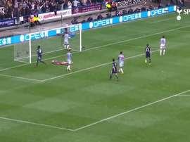 VIDÉO : le premier but de Sissoko avec Tottenham. Dugout