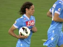 Cavani scored his final Napoli goal. DUGOUT