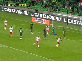 Moses has his first Spartak goal. DUGOUT