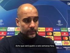Guardiola comenta lesão de Fernandinho. DUGOUT