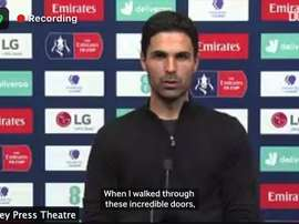 Arteta had a message for Arsenal fans. DUGOUT