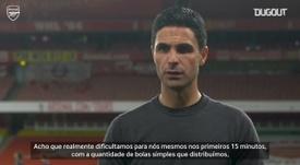 Arteta analisa vitória sofrida do Arsenal sobre o Southampton. DUGOUT