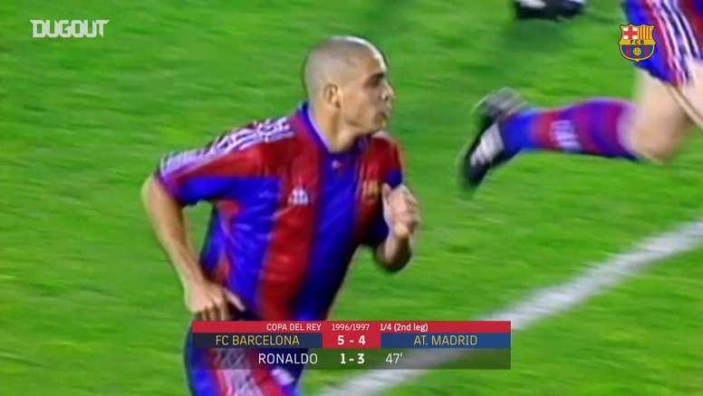 Birthday boy Ronaldo's hattrick . DUGOUT