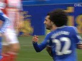 VIDEO: Mohamed Salah gives Chelsea the lead vs Stoke City. DUGOUT