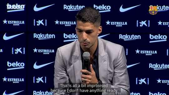 Suárez was overcome with emotion. DUGOUT
