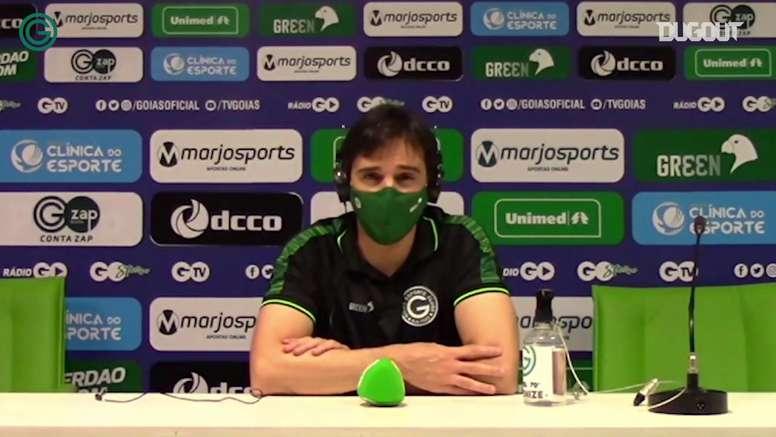 Técnico do Goiás falou após o triunfo sobre o Internacional. DUGOUT