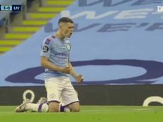 El emerger de Phil Foden en el Manchester City. Captura/DUGOUT