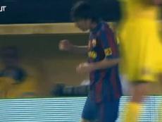 Messi scored a brace against Villarreal in 2010