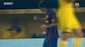 Messi scored a brace against Villarreal in 2010