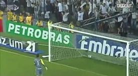 Robinho marcou golaço contra o Grêmio em 2010. DUGOUT