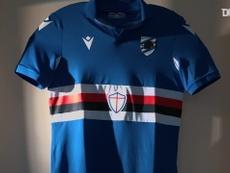 Le nuove maglie della Sampdoria. Dugout