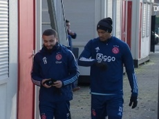 Haller's first training session as an Ajax player. DUGOUT