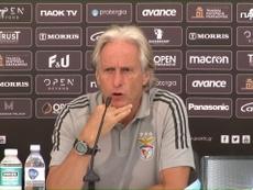 Jorge Jesus concedeu entrevista após a derrota e eliminação do Benfica para o PAOK. DUGOUT