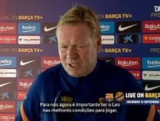 Koeman elogia Messi antes de amistoso do sábado. DUGOUT