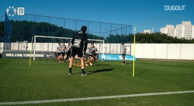 Corinthians trained ahead of the match. DUGOUT