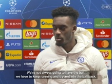 Callum Hudson-Odoi was a happy man after Chelsea beat Rennes. DUGOUT