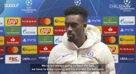 Callum Hudson-Odoi was a happy man after Chelsea beat Rennes. DUGOUT