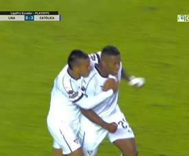 Valencia scored his first Quito goal in November. DUGOUT