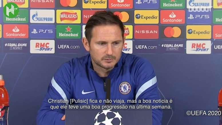 Lampard falou sobre os rumores de que o futuro de Olivier Giroud será fora do Chelsea. DUGOUT