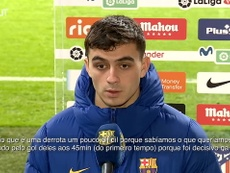 Pedri concedeu entrevista após a derrota do Barcelona contra o Atlético. DUGOUT