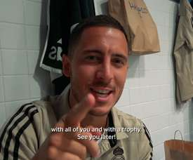 VIDEO: Eden Hazard celebrates his first La Liga title with Real Madrid. DUGOUT