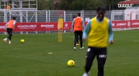 Disasi's great goals at training session. DUGOUT
