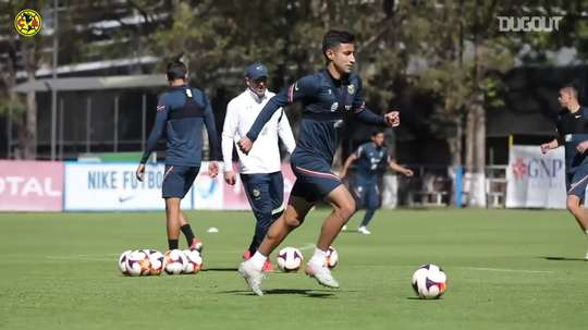Passing circuit in América's training. DUGOUT