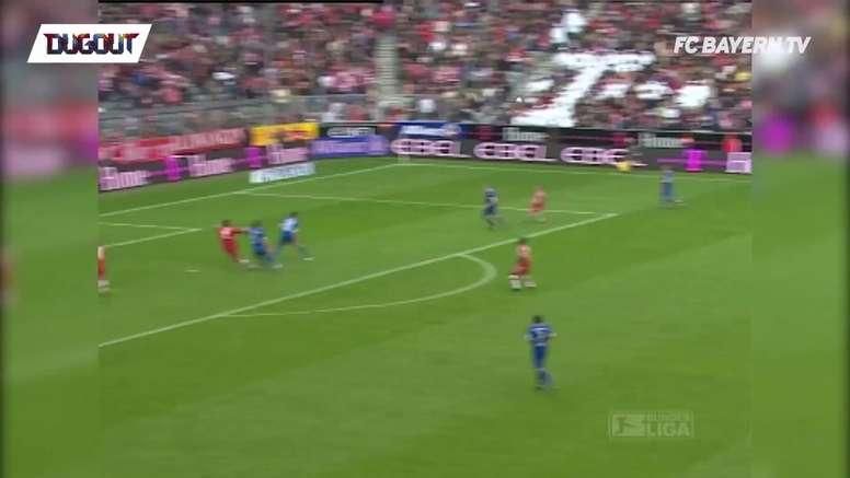Les belles frappes de Ze Roberto avec le Bayern. DUGOUT