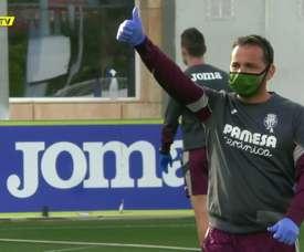 Villarreal voltou aos treinos. DUGOUT