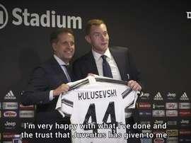 Kulusevski si presenta ai tifosi. Dugout