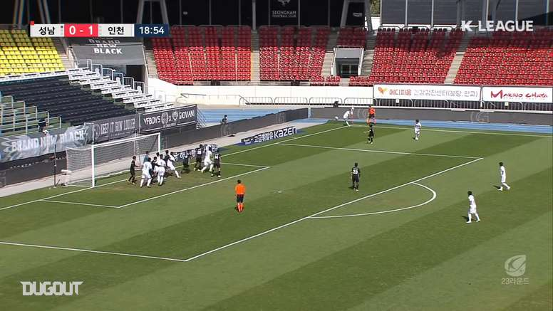 Incheon won 6-0. DUGOUT