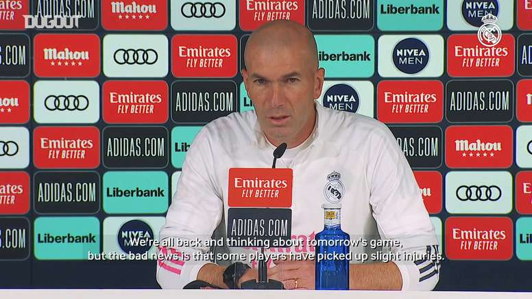 Zinedine Zidane is without many key players for the match with Villarreal. DUGOUT