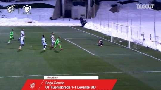 Óscar Pinchi's backheel assist against Levante. DUGOUT