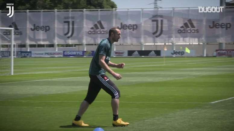 La Juve riprende ad allenarsi. Dugout