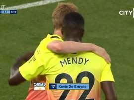 Kevin de Bruyne's incredible free-kick against Chelsea. DUGOUT