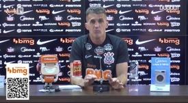 Mancini concedeu entrevista coletiva no CT Joaquim Grava. DUGOUT