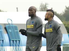 Inter's last training session before opening Champions League game. DUGOUT