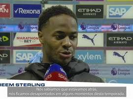 Sterling falou sobre goleada sobre o Liverpool. DUGOUT