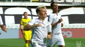 Santos beat Botafogo 2-1 in the Brasileirao. DUGOUT