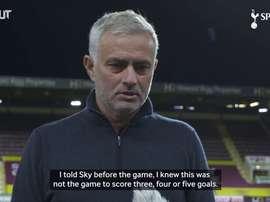 Mourinho spoke after the match. DUGOUT