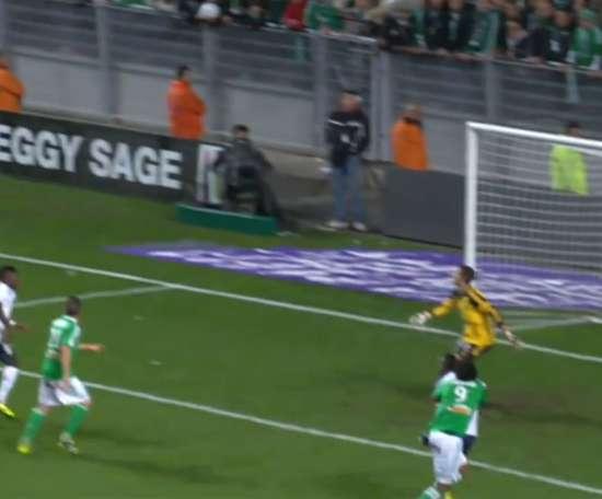 Romain Hamouma has scored four times for St Etienne against Lyon. DUGOUT