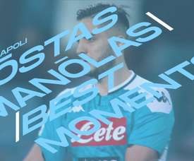 Kostas Manolas is in his first season at Napoli since moving from Roma. DUGOUT