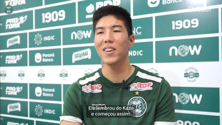Kazu explica apelido e relação com ídolo japonês do Coritiba. DUGOUT